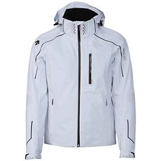 Descente Mens Turbulance Jacket Super White  Large -- Check this awesome product by going to the link at the image.