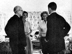 hellyeahteddykennedy:  Ted talking with father Joe, sister-in-law Jackie, and his wife Joan.