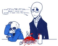 "sushinfood: ""sinnamon-ttoba: "" redmiel: "" Headcanon: Gaster's too precious to prank. "" THIS MAKES ME. SO. WEAK. "" OH THAT'S VERY CUTE """