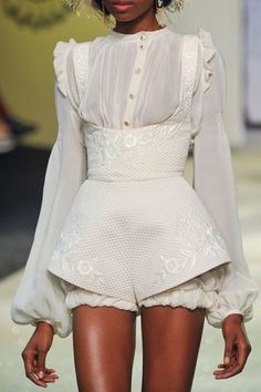 Ulyana Sergeenko at Couture Spring 2013 (Details) More