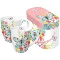 Набор кружек в подарочной упаковке Louise Butterfly 350 мл