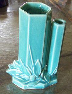 Nelson McCoy Pottery Double Vase Hexagonal