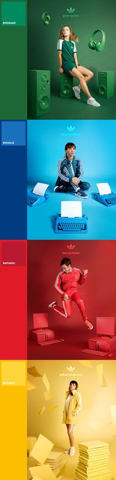 adidas Originals - adicolor by Kenneth Foweraker Soulodre, Cristian Pavez, Marcelo Ortuya Sports Advertising, Creative Advertising, Advertising Design, Sport Inspiration, Graphic Design Inspiration, Web Design, Creative Design, Creative Photography, Headshot Photography