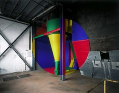 Georges Rousse, 2D shapes painted into a 3D space