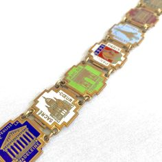 Vintage Paris Souvenir Travel Bracelet Enameled Panel Tourist Sites | Collectibles, Souvenirs & Travel Memorabilia, International | eBay!