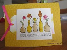 Vivid Vases, Sale-a-bration 2014, Occasions, All Occasion, Thank You, Spring Stéphanie Tsang (c) Libellule Créations Stampin' Up
