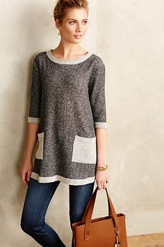 Benet Tunic #anthropologie French Terry