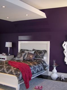 Bedroom Purple Wall Design, Pictures, Remodel, Decor and Ideas - page 2