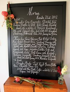 How-To: Create a Custom Chalkboard Thanksgiving Menu (or any holiday menu) Chalkboard Paint Projects, Diy Chalkboard, First Thanksgiving Meal, Liquid Chalk Markers, Thanksgiving Decorations, Pottery Barn, Diy Crafts, Chalkboards, Holiday Ideas