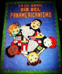 Cartelera escolar, efemérides Abril. Día del Panamericanismo. #misdiseños #misdibujos #díadelPanamericanismo #handmade