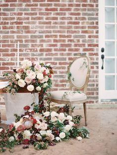 Romantic Pink, Green, and Bordeaux Wedding Ideas | Wedding Sparrow | Charla Storey Photography