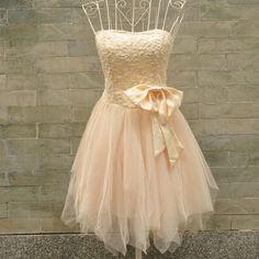 Sweetheart Pink Mini Bowknot Prom Dress, bridesmaids dress #coniefox #2016prom