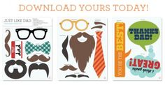 Make Dad disguise for the boys and pics for Father's Day