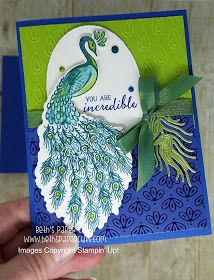Beth's Paper Cuts: Noble Peacock Suite Perfect Peacock, Stampin Up Catalog, Bird Cards, Congratulations Card, Heartfelt Creations, Folded Cards, Stamping Up, Stampin Up Cards, I Card