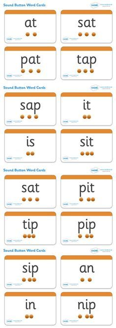 2 Sounds Button Word Cards - Pop over to our site at .uk and check out our lovely Letters and Sounds primary teaching resources! letters and sounds, phase button cards, word cards, flash cards, phonics Jolly Phonics Activities, Teaching Phonics, Primary Teaching, Teaching Resources, Read Write Inc Phonics, Phonics Flashcards, Phonics Worksheets, Rhyming Worksheet, Jolly Phonics Phase 1