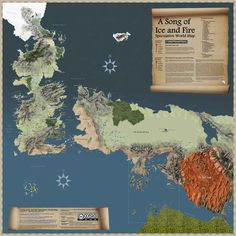 And this larger map, of the entire world of the books.