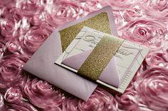Gold and purple wedding, glitter wedding invitations, pastel wedding invitations, 2014 wedding trends, 2014 wedding invitations, calligraphy wedding invitations, letterpress wedding invitations