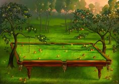 Vladimir Kush - garden-pooloil-on-canvas [993]