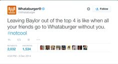 Whataburger gets it. #SicEm