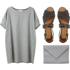 A fashion look from April 2013 featuring Minimarket sandals and Ann Demeulemeester clutches. Browse and shop related looks.