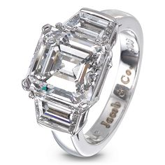 Emerald-Cut Diamond Solitaire | Jacob & Co. | Timepieces | Fine Jewelry | Engagement Rings
