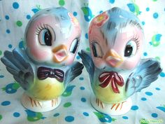 Vintage Bluebird Salt & Pepper Shakers, have these.
