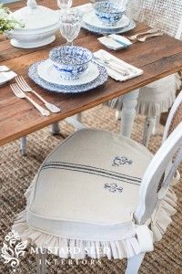 dining chair slipcover tutorial   miss mustard seed
