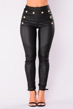 26ee1604ce9989 New Womens PU Leather Pants Stretchy Push Up Pencil Skinny Tight rricdress