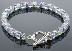 Fancy Crystals Bracelet from www.favecrafts.com  #FaveCrafts