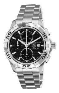 TAG Heuer Men's CAP2110.BA0833 Aquaracer Black Chronograph Dial Watch $1,843.99