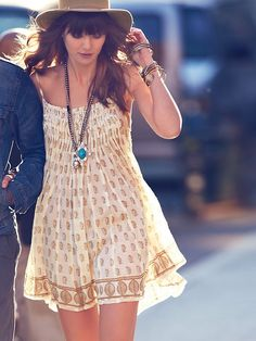 Free People, One Imperial Palm, Pintuck Dress.