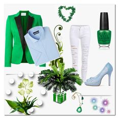 """""""Green ♥"""" by yasmian ❤ liked on Polyvore featuring Vionnet, OPI and MANGO"""