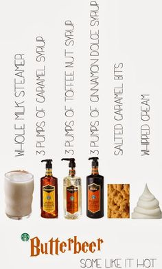 starbucks butterbeer drink recipes - Google Search
