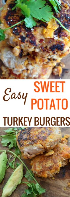 These easy Sweet Potato Turkey Burgers are a great alternative for beef burgers, boasting more fiber and lower fat and ready in 30 minutes || Easy Turkey Burgers || Quick, Easy Dinner (Paleo Beef Burgers)