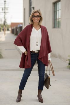 Restyling Our Maroon And Teal Cape Vests