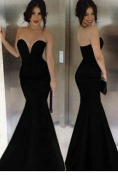 Sparkly Prom Dress, strapless prom dress mermaid prom dress sexy prom dress satin prom dress , These 2020 prom dresses include everything from sophisticated long prom gowns to short party dresses for prom. Evening Dress Long, Mermaid Evening Gown, Black Evening Dresses, Elegant Dresses, Pretty Dresses, Evening Gowns, Formal Dresses, Evening Party, Long Dresses