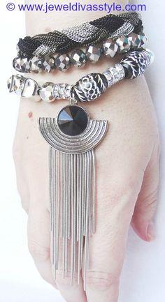 "JDS - JEWEL DIVAS ""VODKA CHANTILLY"" BRACELET STACK - http://jeweldivasstyle.com/designer-inspired-brand-new-bracelet-stacks/"