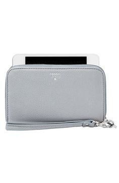 Gorgeous Fossil smartphone zip wallet - great new colors. Grey is awesome.