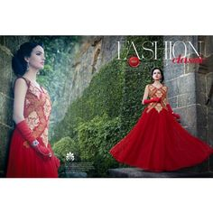 New Stylish Classic Red Hot Gown