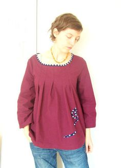 Happy Homemade Sew Chic pattern D with sleeves of O by Rififi.