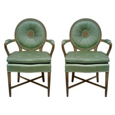 Pair of Occasional Chairs in the style of Dorothy Draper or Tony Duquette, USA  1940's