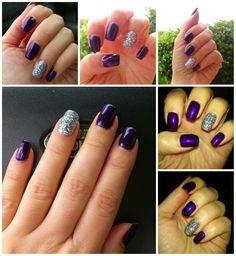 Purple nails by Mara Andrade