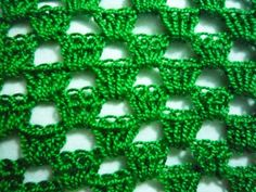 Crochet for left handed: Openwork crochet pattern #1