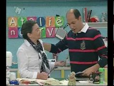 Tia Lili no Ateliê na TV (05/08/11): Caminho de mesa com a técnica Janelas da Catedral
