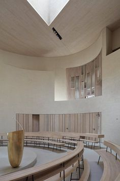Contemporary Rotunda in the Czech Republic by Atelier Štepán - Design Milk Sacred Architecture, Church Architecture, Religious Architecture, Contemporary Architecture, Interior Architecture, Amazing Architecture, Church Interior, Interior And Exterior, Modern Church