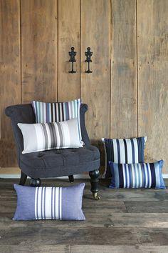 Housses de Coussin Jean-Vier en coton chevron - Chevron Cotton Cushion covers Jean-Vier