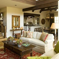 Like the stair rails which are hardly seen.  Best New Cottage: Interiors | Family Room | SouthernLiving.com