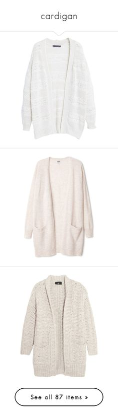 """""""cardigan"""" by sinyukovayulya ❤ liked on Polyvore featuring tops, cardigans, jackets, outerwear, sweaters, plus size cardigans, white cardigan, short-sleeve cardigan, long sleeve cardigan and open front cardigan"""