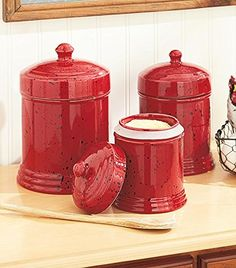 107 best kitchen storage jars kitchen canister sets images red rh pinterest com
