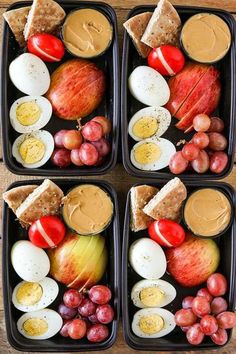 One of my favorite healthier on the go lunch or breakfast ideas is a Starbucks Protein Bistro Box. They recently updated it with even more protein by adding an extra hard boiled egg. My DIY Easy Healthy Meal Prep, Easy Healthy Recipes, Lunch Recipes, Easy Meals, Healthy Weight, Healthy Lunch Foods, Recipes For Meal Prep, Healthy Meal Options, Meals To Go